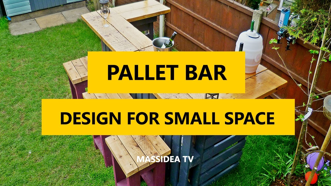 60 cool pallet bar design ideas for small space 2017 for Small pallet bar