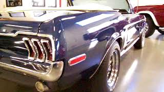 1968 ford mustang convertible presidential blue for sale now