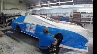 2014 Terry Labonte C&J Energy Services NASCAR wrap time Lapse