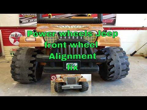 Powerwheels Jeep- DIY fix for front end sag negative camber issues