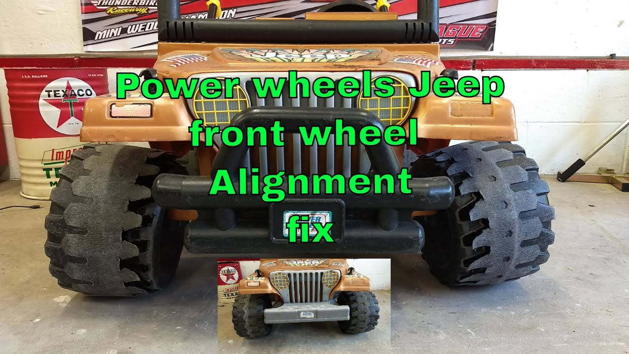 Powerwheels Jeep Diy Fix For Front End Sag Negative Camber Issues Youtube