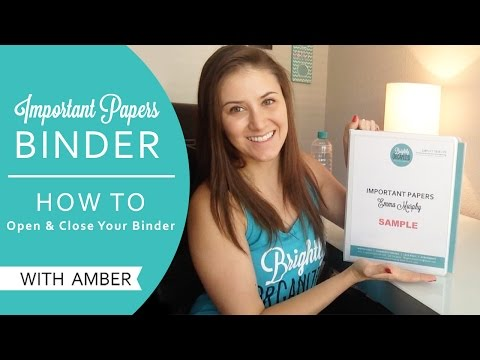 IP Binder | Steps to open & Close the binder