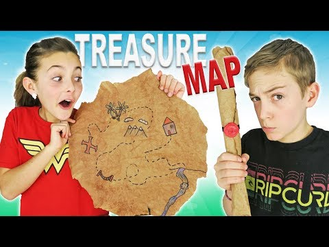 How To Make DIY Treasure Map | Easy Kids Crafts