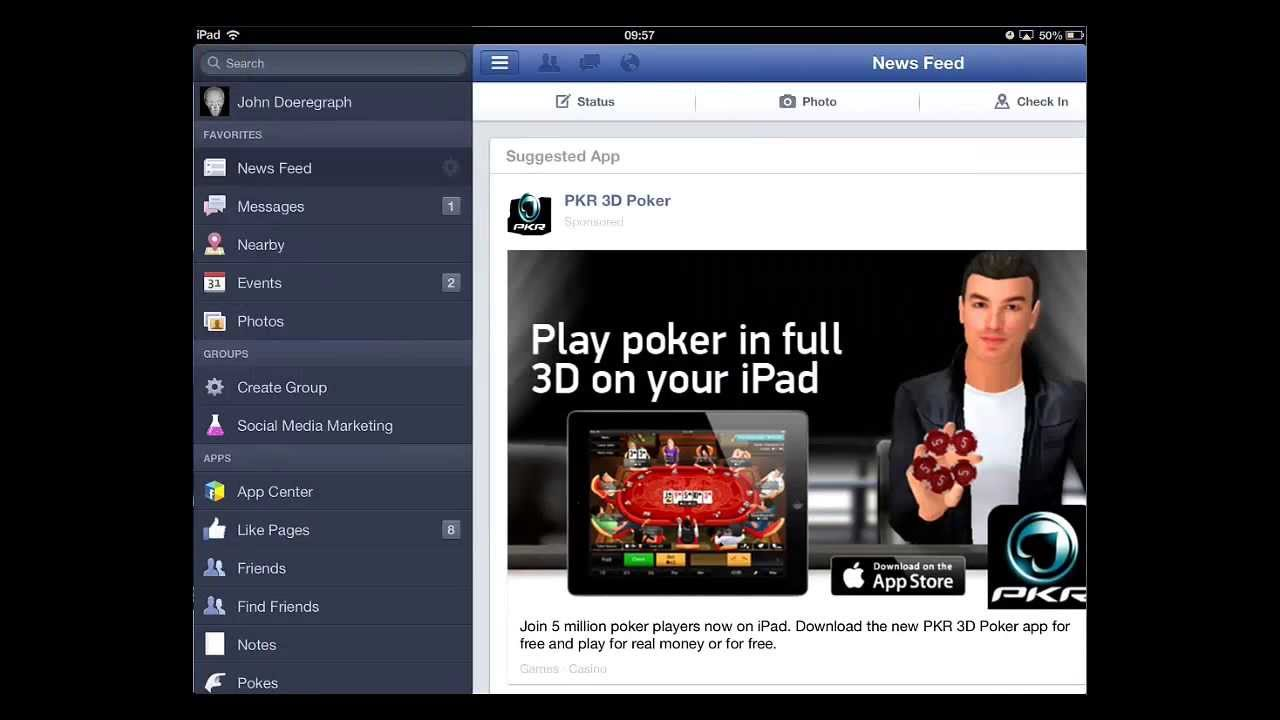 How to Update Facebook Profile Picture on iPad