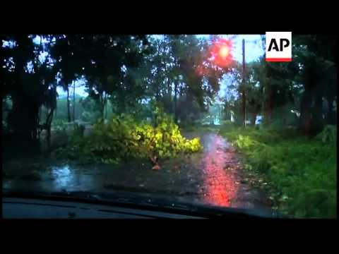 Hurricane Irene roars across the Bahamas archipelago