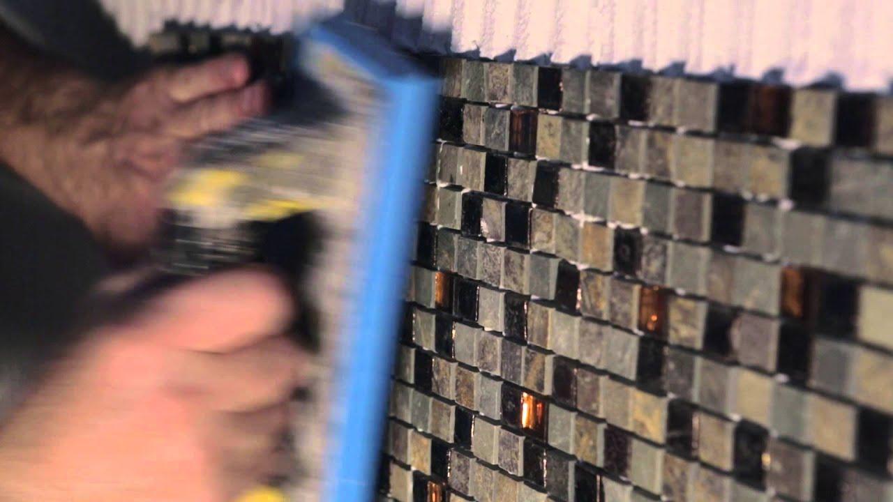 posa mosaico su rete 30x30 a rivestimento  YouTube