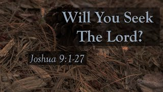 Will You Seek the Lord?