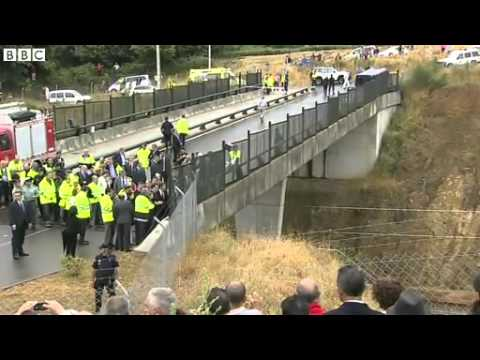 BBC News   Spain train crash  Galicia derailment kills over 70