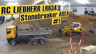 Liebherr LR634 track loader Stonebreaker AREA #1 | Liebherr LR634 Laderaupe Stonebreaker AREA