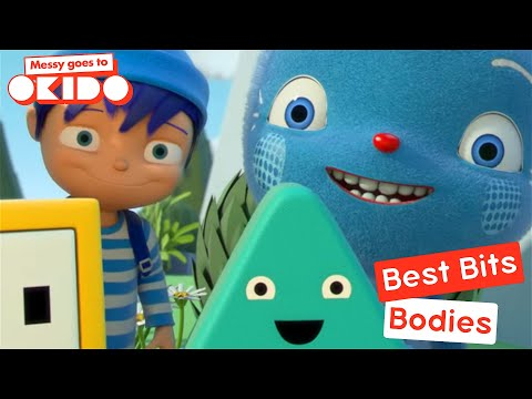 Messy Goes To Okido - Bodies Best Bits! | Cartoons For Children | Cbeebies