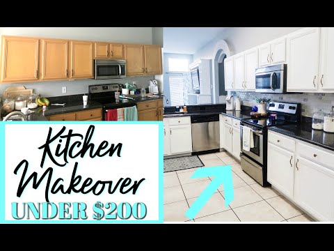 DIY KITCHEN TRANSFORMATION ON A BUDGET | BEFORE AND AFTER KITCHEN MAKEOVER