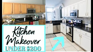 DIY KITCHEN TRANSFORMATION ON A BUDGET   BEFORE AND AFTER KITCHEN MAKEOVER