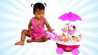 Baby Nora Playing with Ice Cream Shop