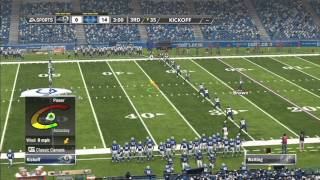 Madden 12 NFL Full Gameplay Rams vs. Colts Xbox 360