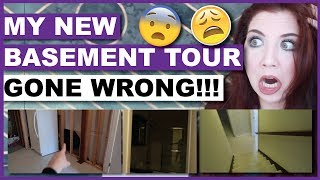 My New Basement Tour (GONE WRONG)
