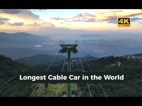 World's Longest Cable Car Ride - Sun World Ba Na Hills, Vietnam