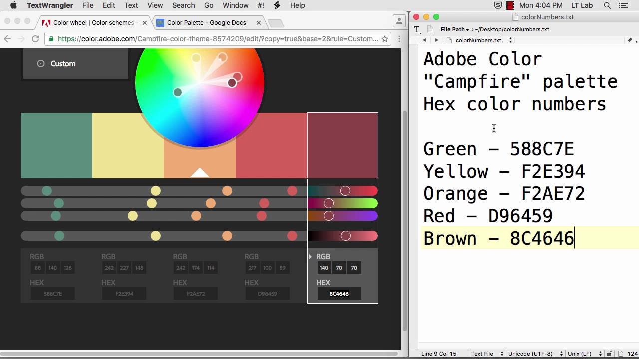 How to color in google docs - Save An Adobe Color Palette In A Google Doc