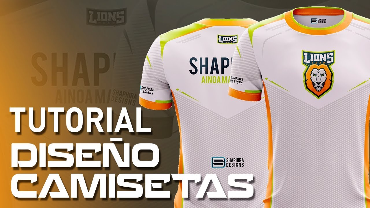 Tutorial Diseño Camiseta Deportiva Paso A Paso Pack Patterns Camisetas By Shaphira Youtube