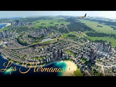 The Coastal City: Los Hermanos. Transport Fever 2; City Timelapse. (part 1)