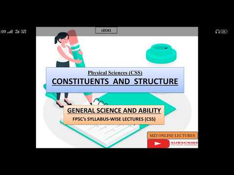 General Science and ability css paper: Constituents and Structure