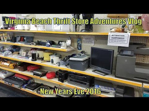 Virginia Beach Thrift Store Adventures Vlog  -  New Years Eve 2016
