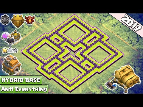 NEW! Best TH7 Farming/Trophy Base With Double Cannon ♦ Town Hall 7 Hybrid Base 2017 - Clash of Clans