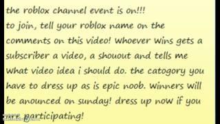 o evento de canal Roblox #1