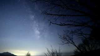 星空タイムラプス#36 清里・美し森の天の川と星空 Star 4K Time Lapse in Japan#36~The Milky Way in foot of mountain