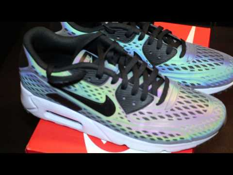 competitive price 2206e 9bb8e Air Max 90 Ultra Moire Holographic Iridescent Review - YouTube