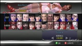 Rumble Roses XX Xbox 360 Gameplay - Character select