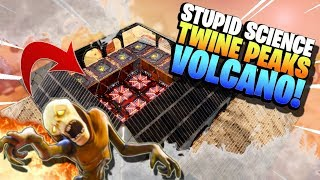 GIANT VOLCANO DEFENSE in Fortnite Save the World Twine Peaks | Stupid Science!