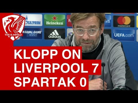 "Jurgen Klopp on Liverpool 7-0 Spartak Moscow: ""We were ready tonight!"""