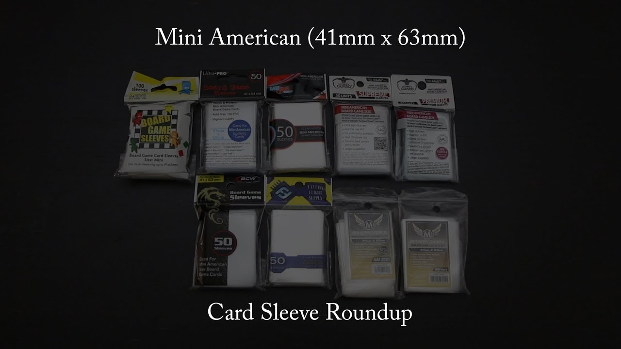 Ultra PRO Clear Mini American Board Game Sleeves