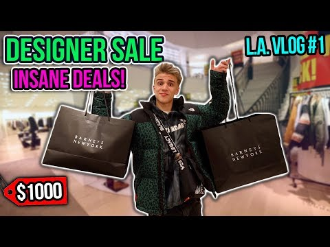 Spending $1000 at a Designer SALE!! (Shopping Spree)