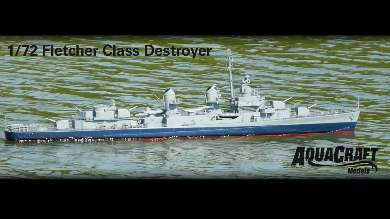 AquaCraft – 1/72 US Fletcher Class Destroyer ARR (AQUB5705)