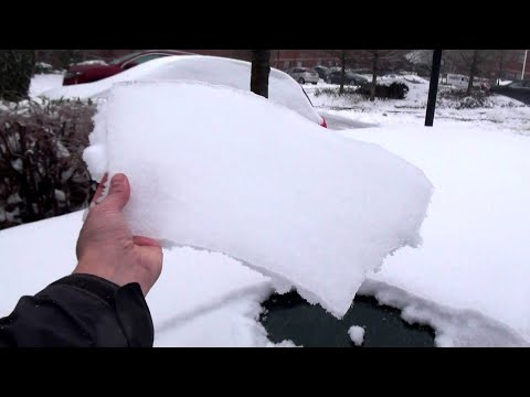 Storm Emma aftermath Exeter 4x4 Quattro drive - Freezing Rain on Powder Snow
