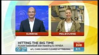 Liz Cambage interviewed on Sunrise Thumbnail