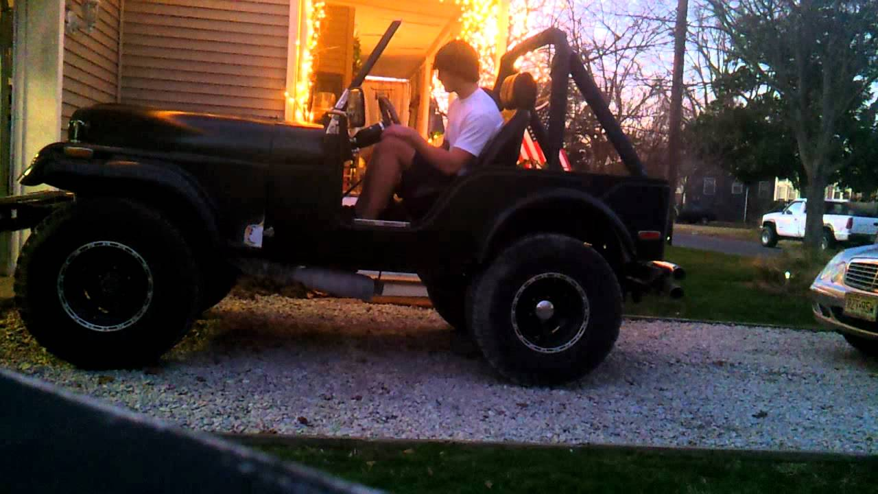 small resolution of 74 jeep cj5 amc 304 w freeflow headers into flow master 44 s no pipes start rev
