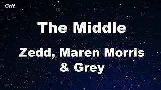 Video The Middle - Zedd, Maren Morris, Grey Karaoke 【With Guide Melody】 Instrumental download MP3, 3GP, MP4, WEBM, AVI, FLV Juli 2018