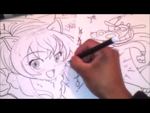 Anime Cartoons Draw  VACA DE LA VACA Y EL POLLITO x db