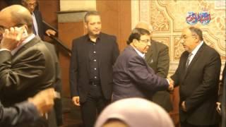 سمير صبري في عزاء الإعلامي أمين بسيوني