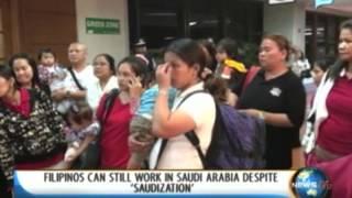 NewsLife: Filipinos can still work in Saudi Arabia despite 'Saudization'