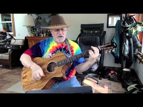 222b Two Of Us Beatles Cover With Guitar Chords And Lyrics Youtube