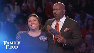 Can Brittany pull off a big comeback? | Family Feud
