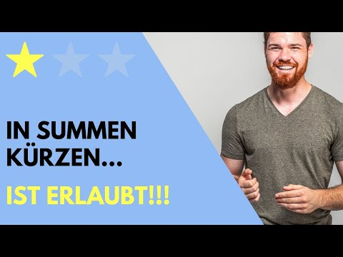Richtig in Summen kürzen! from YouTube · Duration:  6 minutes 54 seconds