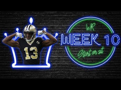 2019 Fantasy Football - Week 10 Wide Receiver Start or Sit