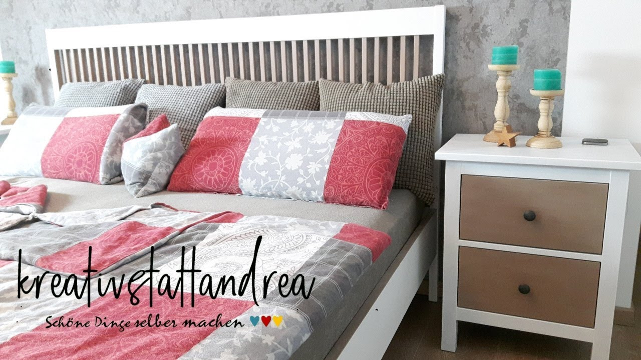 Möbel Weiss Landhausstil Streichen Diy Paint Furniture Farmhousse Bed Bedside Table