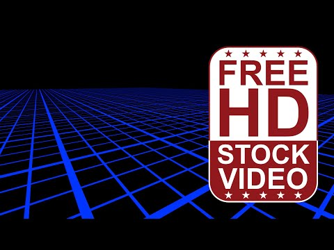 free-stock-videos-abstract-blue-grid-on-black-background-2d-animation