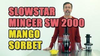 Slowstar Mincer Sw 2000 Mango Sorbet