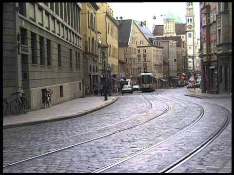 augsburg trams strassenbahn july 1998 youtube. Black Bedroom Furniture Sets. Home Design Ideas